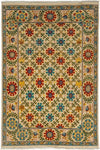 "Suzani, Multi Wool Area Rug - 4' 3"" x 5' 8"""