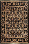 "Ottoman, Black Wool Area Rug - 6' 3"" x 8' 10"""