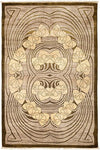 "Shalimar, Brown Wool & Silk Area Rug - 4' 1"" x 6' 3"""