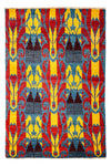 "Ikat, Multi Wool Area Rug - 4' 0"" x 5' 10"""
