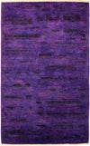 "Vibrance, 3x5 Purple Wool Area Rug - 3' 1"" x 4' 10"""