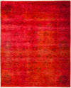 "Vibrance, 8x10 Red Wool Area Rug - 8' 1"" x 10' 0"""