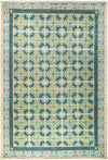 "Suzani, 12x18+ Green Wool Area Rug - 12' 1"" x 17' 6"""