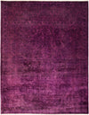 "Vibrance, 8x10 Purple Wool Area Rug - 8' 1"" x 9' 10"""