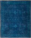 "Vibrance, 8x10 Blue Wool Area Rug - 8' 0"" x 9' 10"""
