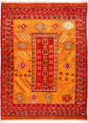 "Tullu, 9x12 Orange Wool Area Rug - 8' 9"" x 12' 1"""