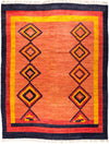 "Tullu, 8x10 Orange Wool Area Rug - 8' 3"" x 10' 7"""