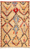 "Tullu, 5x8 Multi Wool Area Rug - 5' 1"" x 8' 1"""