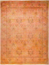 "Vibrance, 8x10 Orange Wool Area Rug - 8' 1"" x 10' 3"""