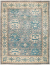 "Ziegler, 8x10 Blue Wool Area Rug - 8' 2"" x 10' 5"""
