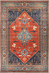 "Serapi, 12x18+ Blue Wool Area Rug - 11' 8"" x 17' 4"""