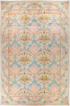 "Arts & Crafts, 12x18+ Pink Wool Area Rug - 11' 10"" x 18' 2"""