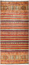 "Tribal, 9x12 Multi Wool Area Rug - 9' 1"" x 12' 3"""