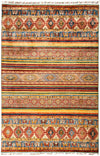 "Tribal, 8x10 Multi Wool Area Rug - 6' 10"" x 10' 1"""