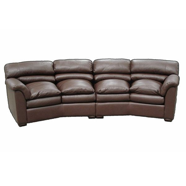 Canyon 4 Seat Leather Sectional