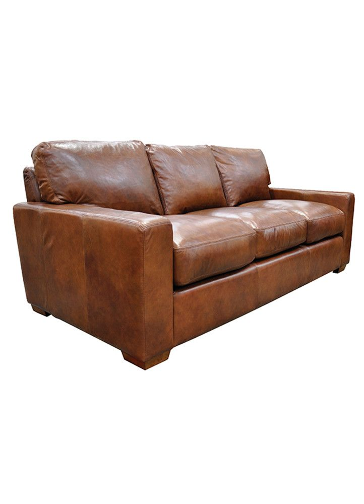 City Crafts Leather Sofa