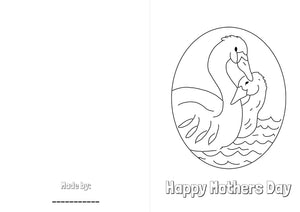 Mother Swan - colouring sheet
