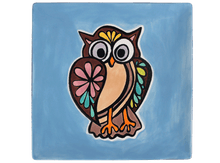 Load image into Gallery viewer, Ceramic Baroque Owl Plate