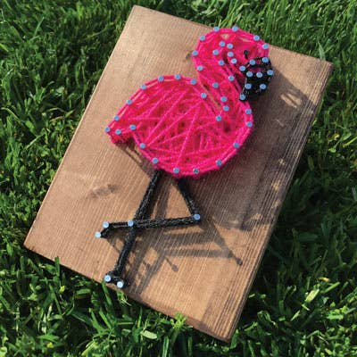 Flamingo Mini String Art Kit - DIY