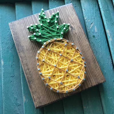Pineapple Mini String Art Kit - DIY (DIY SHIPS AFTER DECEMBER 20TH)