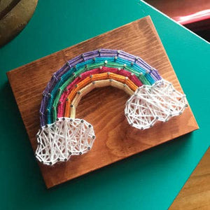 Rainbow Mini String Art Kit - DIY