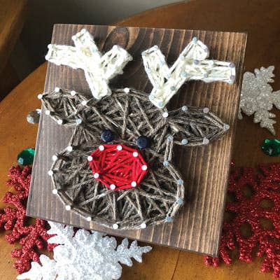 Reindeer Mini String Art Kit - DIY