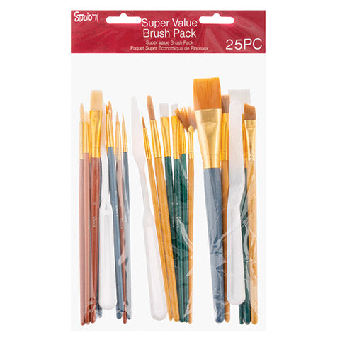 25 Pack Brush Set