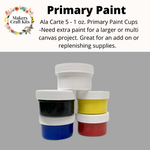 Ala Carte Primary Paint Add On 2 Oz Cups