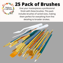 Load image into Gallery viewer, 25 Pack Brush Set