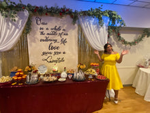 Load image into Gallery viewer, Beauty and The Beast Backdrop 10ft - Antiqued like book page- photo booth backdrop