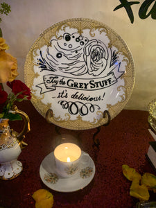 Beauty and The Beast Plate Decor- Try the Gray Stuff its Delicious