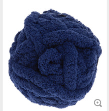 Load image into Gallery viewer, Navy Blue Chunky Knit Yarn
