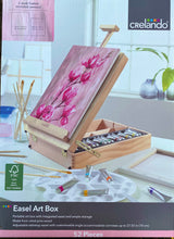 Load image into Gallery viewer, Limited Edition -52 Piece Art Wood Easel Art Box Set & 2 Paint Nite Classes