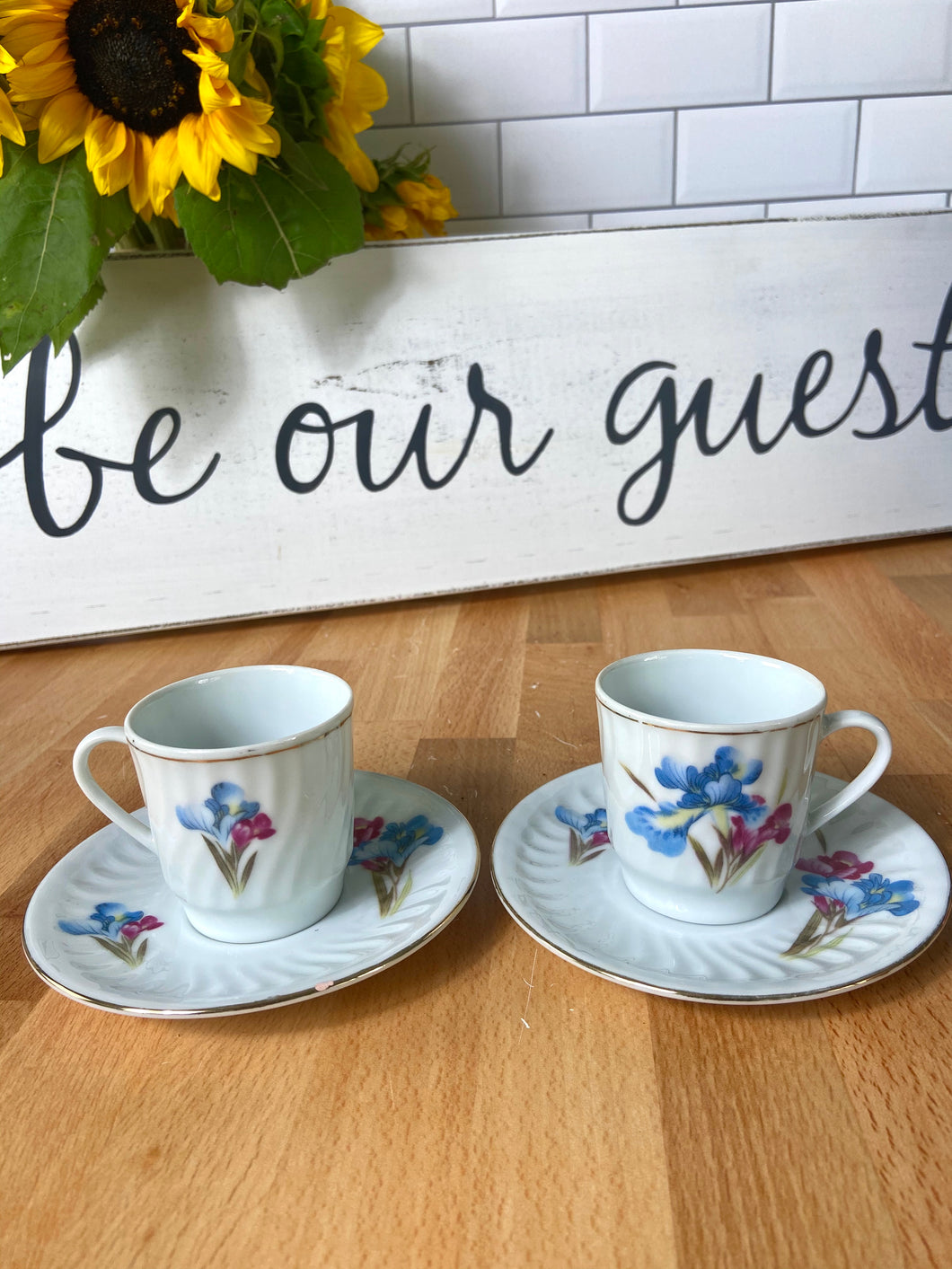 Beauty and the Beast Party Decoration: Candle Holding Teacup Duo