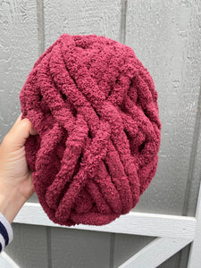Merlot Red Chunky Knit Yarn