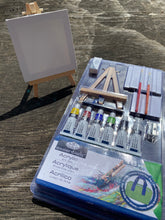 Load image into Gallery viewer, Mini Paint Nite kit plus bonus 4x4 canvas with mini easel!- SHIPS PRIORITY