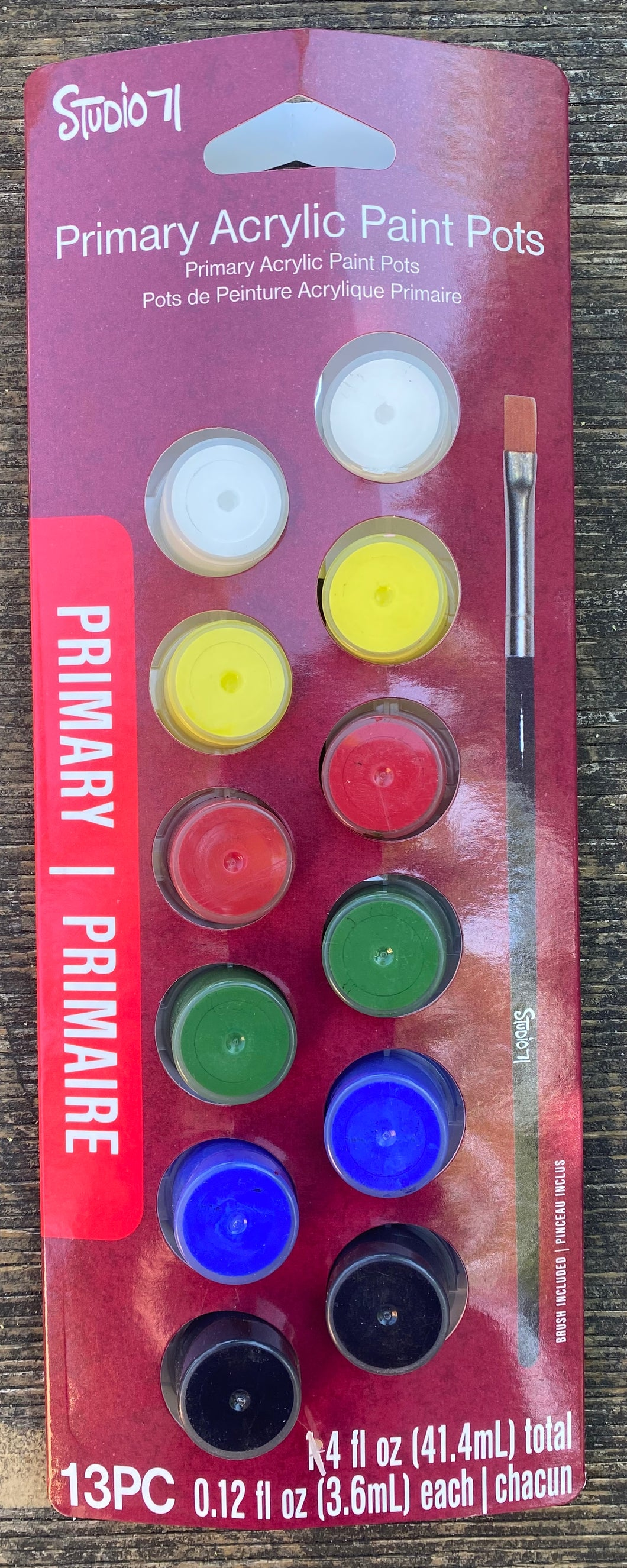 Primary Acrylic Paint Pots