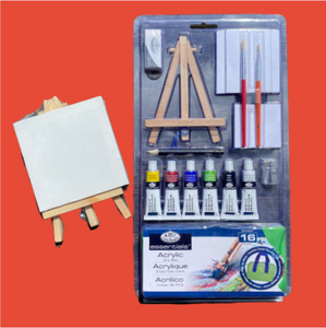 Mini Paint Nite kit plus bonus 4x4 canvas with mini easel!- SHIPS PRIORITY