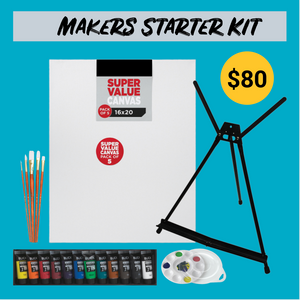 Makers Starter Paint Nite Kit 16x20