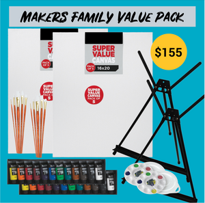 Makers Family Value Paint Nite Kit 16x20