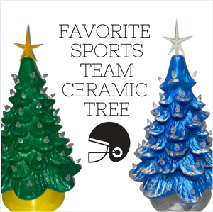 Choose your Favorite Sports Team Ceramic Christmas Tree