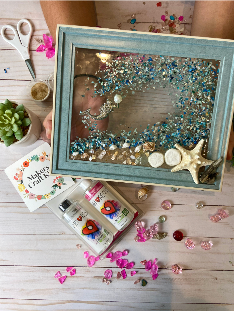 DIY Art Resin Seascape Kit: Blue Theme