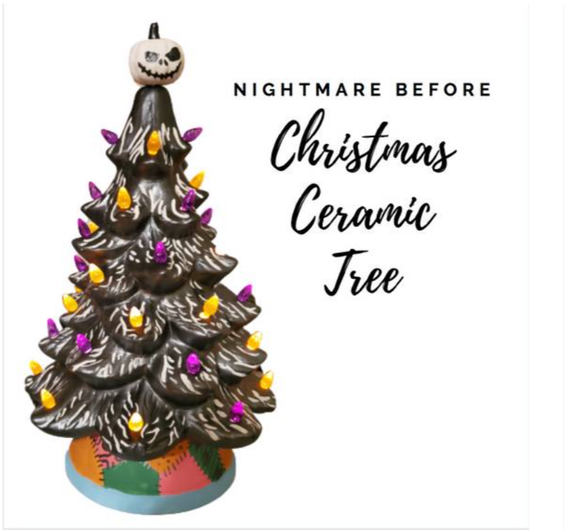 Nightmare Before Christmas Ceramic Tree