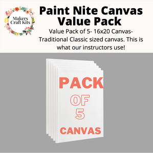 Value 5 Pack 16x20 Canvas