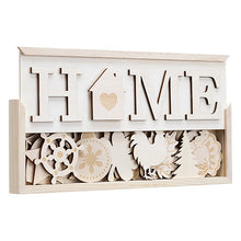 Load image into Gallery viewer, Home Wood Sign - Interchangeable Seasonal Signs