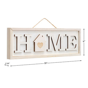 Home Wood Sign - Interchangeable Seasonal Signs