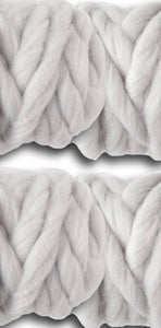 Cloud Gray Roving Yarn
