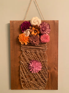 Rustic Farmhouse Mason Jar String Art Kit