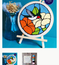 Load image into Gallery viewer, Punch Needle Kit- Hummingbird