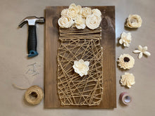 Load image into Gallery viewer, Farmhouse String Art Mason Jar